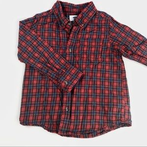 Old navy checkered button up shirt